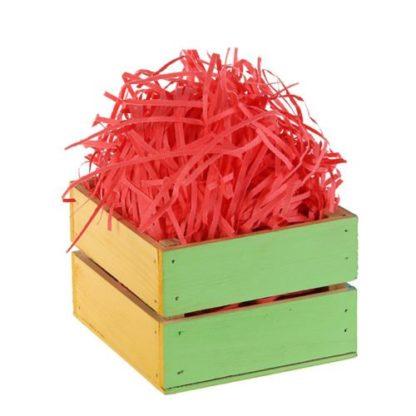 Наполнитель бумажный красный-коралловый